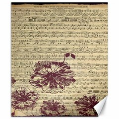 Vintage Music Sheet Song Musical Canvas 8  x 10