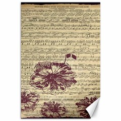 Vintage Music Sheet Song Musical Canvas 12  X 18