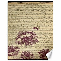Vintage Music Sheet Song Musical Canvas 18  x 24