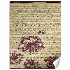 Vintage Music Sheet Song Musical Canvas 36  x 48