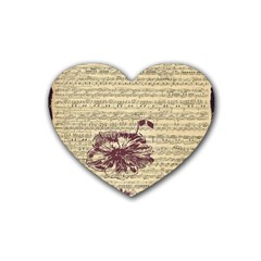 Vintage Music Sheet Song Musical Heart Coaster (4 pack)