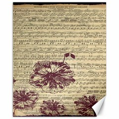 Vintage Music Sheet Song Musical Canvas 11  x 14