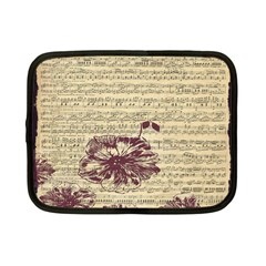 Vintage Music Sheet Song Musical Netbook Case (Small)