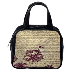 Vintage Music Sheet Song Musical Classic Handbags (one Side)