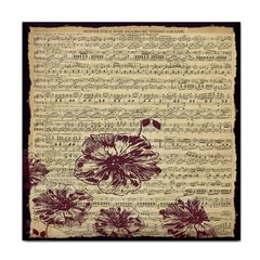 Vintage Music Sheet Song Musical Face Towel