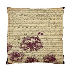 Vintage Music Sheet Song Musical Standard Cushion Case (Two Sides)