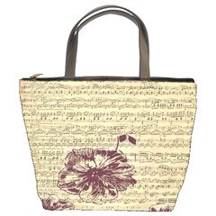 Vintage Music Sheet Song Musical Bucket Bags