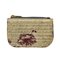 Vintage Music Sheet Song Musical Mini Coin Purses