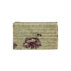 Vintage Music Sheet Song Musical Cosmetic Bag (small)