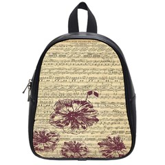 Vintage Music Sheet Song Musical School Bags (small)