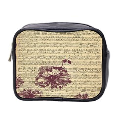 Vintage Music Sheet Song Musical Mini Toiletries Bag 2 Side