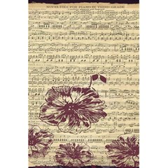 Vintage Music Sheet Song Musical 5 5  X 8 5  Notebooks
