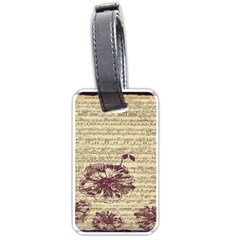 Vintage Music Sheet Song Musical Luggage Tags (two Sides)