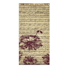 Vintage Music Sheet Song Musical Shower Curtain 36  x 72  (Stall)