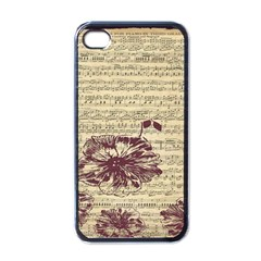 Vintage Music Sheet Song Musical Apple iPhone 4 Case (Black)