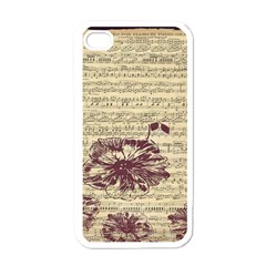 Vintage Music Sheet Song Musical Apple iPhone 4 Case (White)