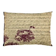 Vintage Music Sheet Song Musical Pillow Case (two Sides)