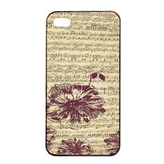 Vintage Music Sheet Song Musical Apple iPhone 4/4s Seamless Case (Black)
