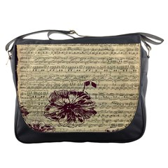 Vintage Music Sheet Song Musical Messenger Bags