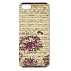 Vintage Music Sheet Song Musical Apple Seamless iPhone 5 Case (Clear)