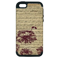Vintage Music Sheet Song Musical Apple Iphone 5 Hardshell Case (pc+silicone)