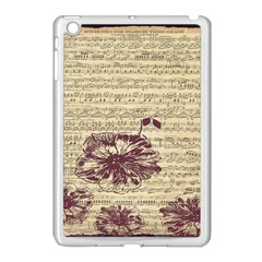Vintage Music Sheet Song Musical Apple Ipad Mini Case (white)