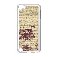 Vintage Music Sheet Song Musical Apple iPod Touch 5 Case (White)