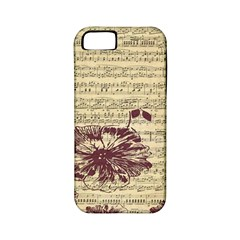 Vintage Music Sheet Song Musical Apple Iphone 5 Classic Hardshell Case (pc+silicone)