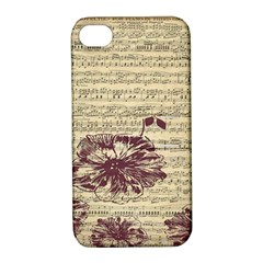 Vintage Music Sheet Song Musical Apple Iphone 4/4s Hardshell Case With Stand