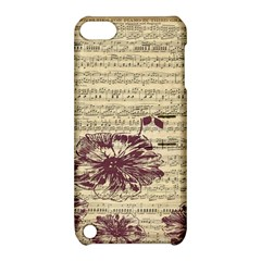 Vintage Music Sheet Song Musical Apple Ipod Touch 5 Hardshell Case With Stand