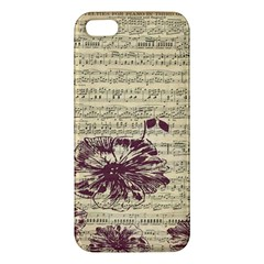 Vintage Music Sheet Song Musical Apple Iphone 5 Premium Hardshell Case