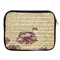 Vintage Music Sheet Song Musical Apple iPad 2/3/4 Zipper Cases