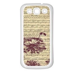 Vintage Music Sheet Song Musical Samsung Galaxy S3 Back Case (White)