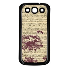 Vintage Music Sheet Song Musical Samsung Galaxy S3 Back Case (black)