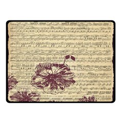 Vintage Music Sheet Song Musical Double Sided Fleece Blanket (small)