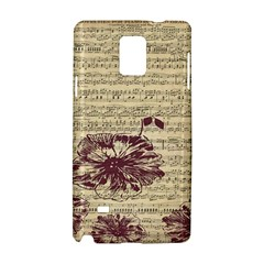 Vintage Music Sheet Song Musical Samsung Galaxy Note 4 Hardshell Case