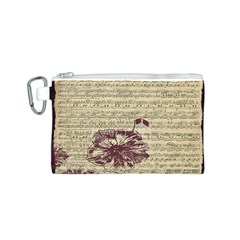 Vintage Music Sheet Song Musical Canvas Cosmetic Bag (s)