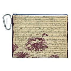 Vintage Music Sheet Song Musical Canvas Cosmetic Bag (XXL)