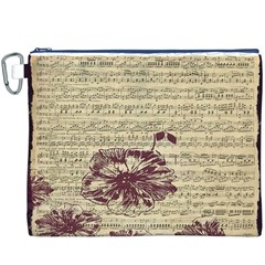 Vintage Music Sheet Song Musical Canvas Cosmetic Bag (xxxl)