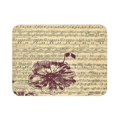 Vintage Music Sheet Song Musical Double Sided Flano Blanket (Mini)
