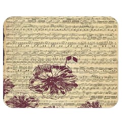 Vintage Music Sheet Song Musical Double Sided Flano Blanket (medium)