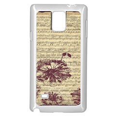 Vintage Music Sheet Song Musical Samsung Galaxy Note 4 Case (white)