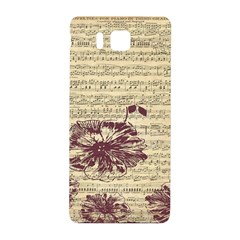Vintage Music Sheet Song Musical Samsung Galaxy Alpha Hardshell Back Case