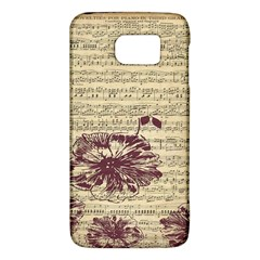 Vintage Music Sheet Song Musical Galaxy S6