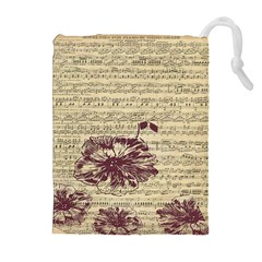 Vintage Music Sheet Song Musical Drawstring Pouches (Extra Large)