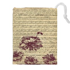 Vintage Music Sheet Song Musical Drawstring Pouches (XXL)