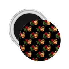 Vintage Roses Wallpaper Pattern 2.25  Magnets
