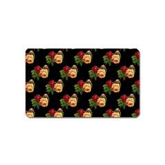 Vintage Roses Wallpaper Pattern Magnet (name Card)