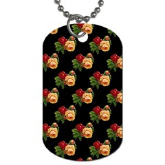 Vintage Roses Wallpaper Pattern Dog Tag (Two Sides)
