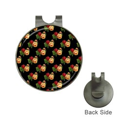 Vintage Roses Wallpaper Pattern Hat Clips With Golf Markers